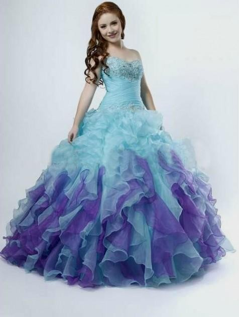 Turmec purple and teal ombre dress for Purple ombre wedding dress