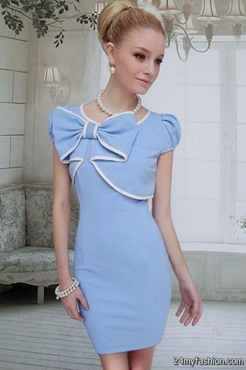 Factory price baby blue mini bodycon dress