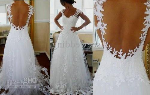 backless wedding dress pinterest 2016-2017 | B2B Fashion