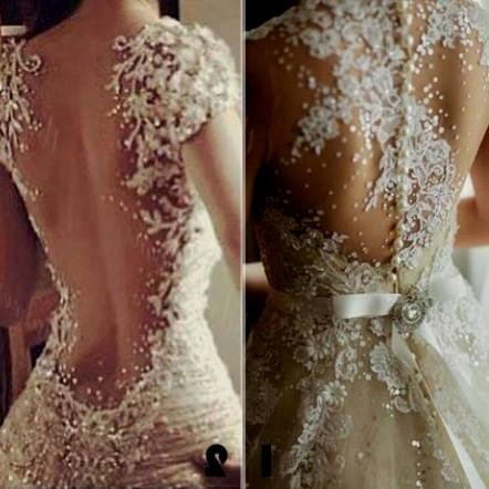 backless wedding dress pinterest 2016-2017 | B2B Fashion