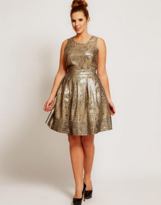 black and gold party dress plus size looks | B2B Fashion