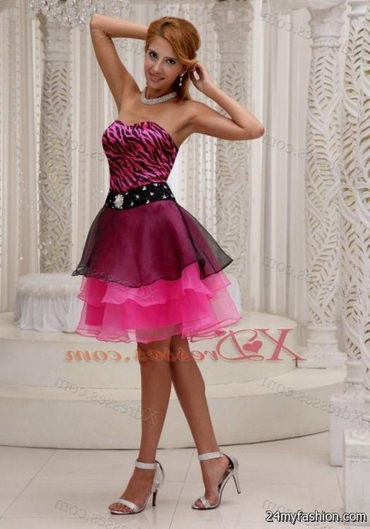black and hot pink cocktail dress looks b2b fashion
