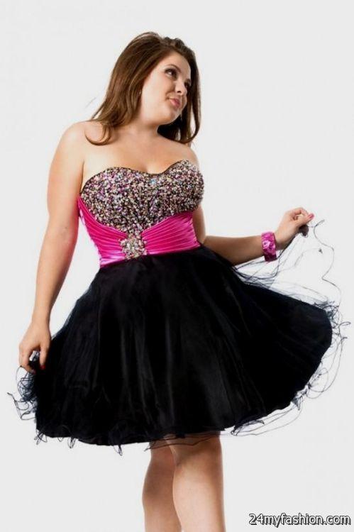 black and hot pink cocktail dress 20162017 b2b fashion