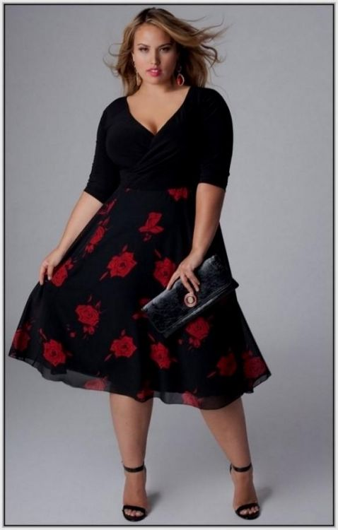 Red and Black Plus Size Dresses – Fashion dresses