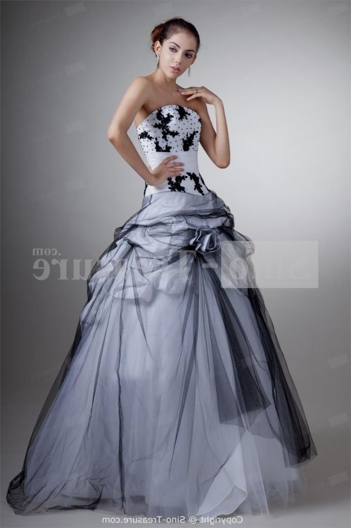 Black And White Ball Gown Looks B2b Fashion