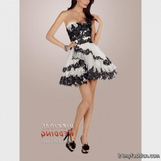 black and white cocktail dresses for prom 20162017 b2b