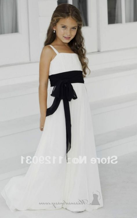 fc6382679c0d black and white dresses for kids looks