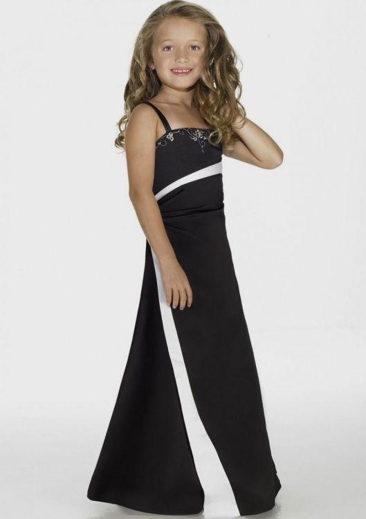 Black And White Junior Bridesmaid Dresses Looks B2b Fashion