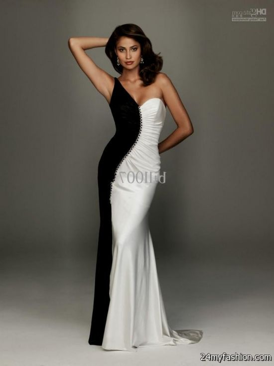 Fashion style White and Black party dresses pictures for lady