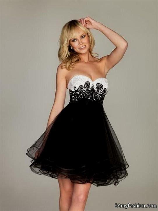 6581b36d205f black and white semi formal dresses looks