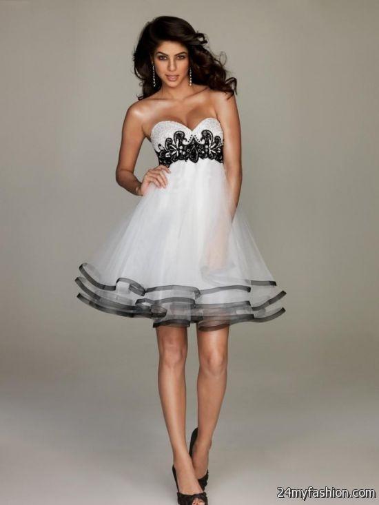 Black And White Short Formal Dresses Looks B2b Fashion