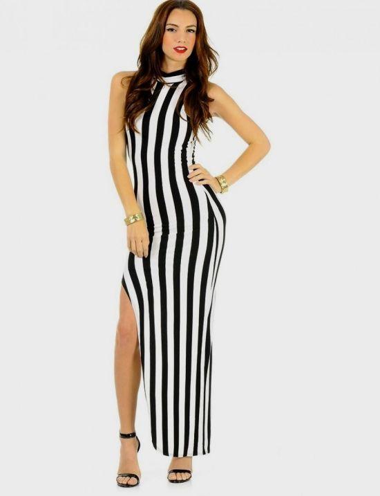black and white vertical striped maxi dress wwwpixshark