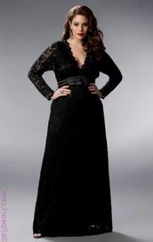 black bridesmaid dresses long plus size looks | B2B Fashion