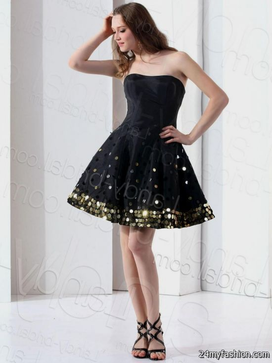 Short Black Weding Dreses 018 - Short Black Weding Dreses