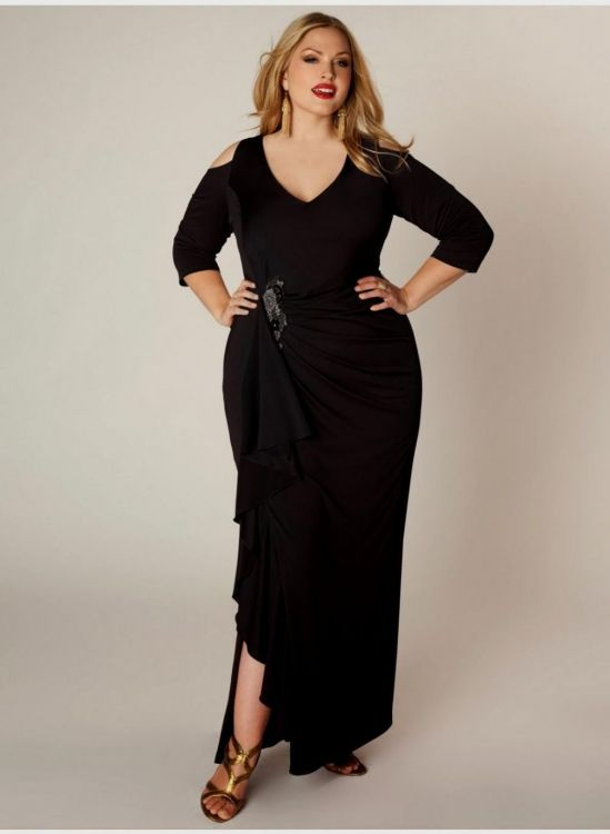 b07fa662626 Our trendy plus size dresses bring the affordable styles you and your  closet crave. You can share these black bridesmaid dresses with sleeves ...