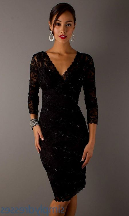 black cocktail dress with sleeves 2016-2017 » B2B Fashion