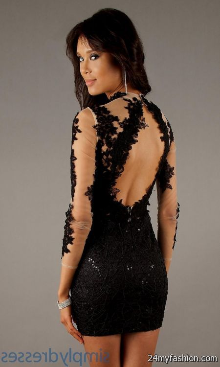Black Dress With Lace Sleeves Forever 21 Looks B2b Fashion
