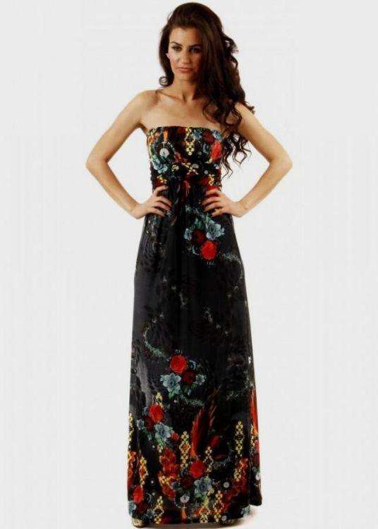 Black Floral Maxi Dress 2016 2017 B2B Fashion