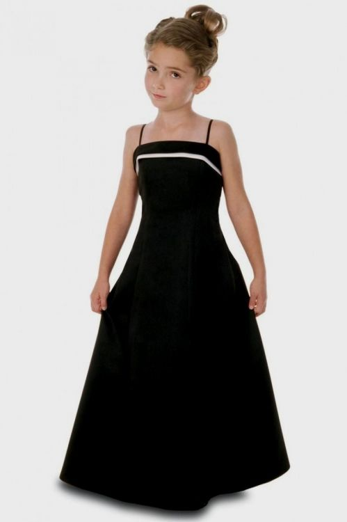 black junior bridesmaid dresses 2016-2017