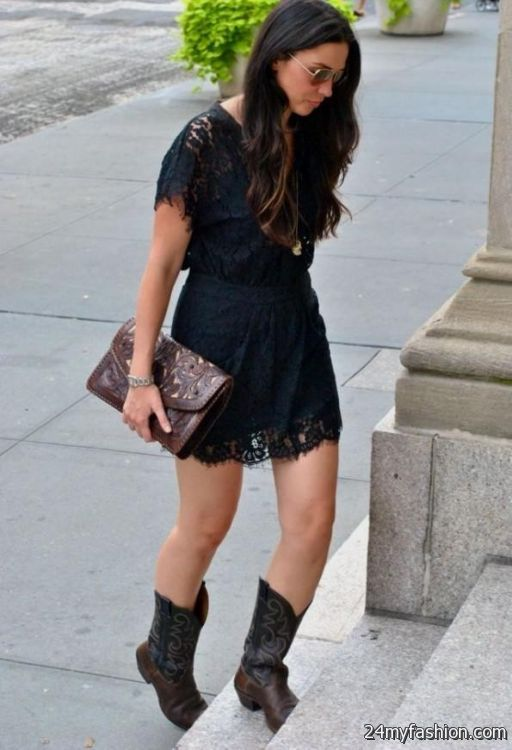 Can you wear cocktail dress with boots