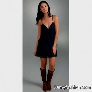 Black Lace Dress With Cowboy Boots Looks B2b Fashion