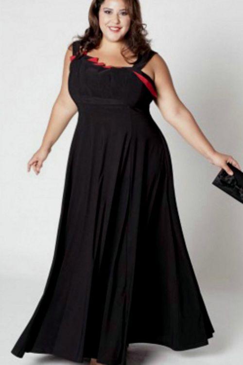 black lace evening gown plus size looks | B2B Fashion
