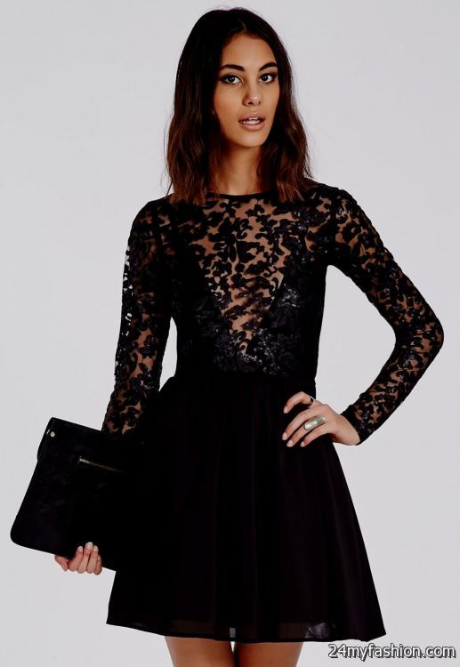 899d9193880 You can share these black lace skater dress on Facebook
