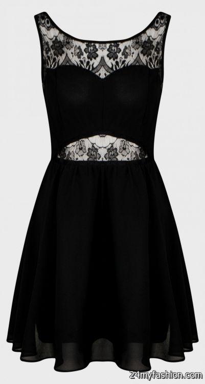6565888ab0e black lace skater dress looks