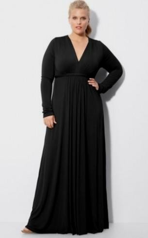 black long sleeve dress plus size looks | B2B Fashion