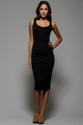 Black Midi Sheath Dress