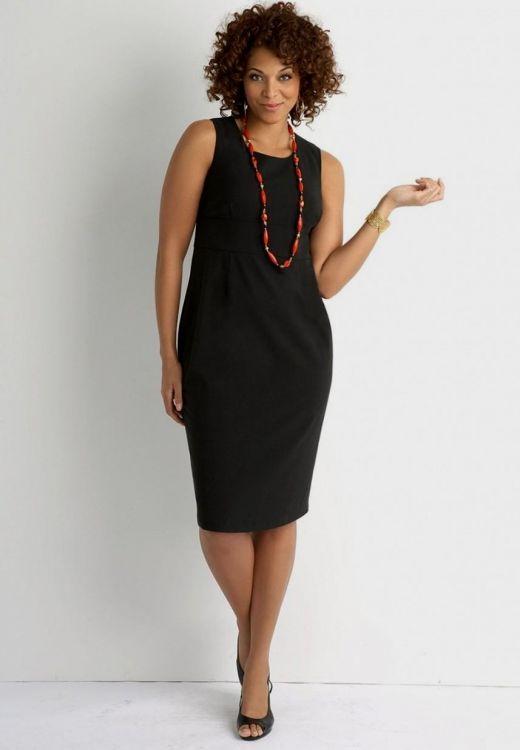 black sheath dress plus size looks | B2B Fashion