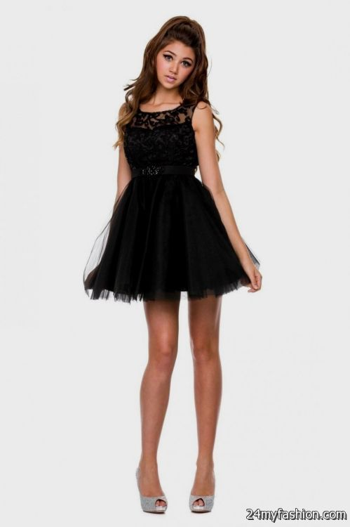black short prom dresses 2014 2016-2017