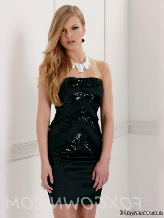 Black Short Strapless Dresses Looks B2b Fashion