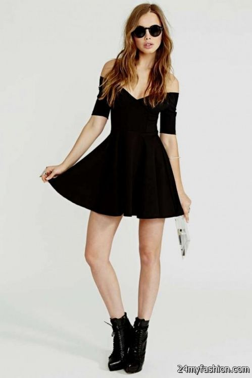 black skater dress tumblr 2016-2017 » B2B Fashion
