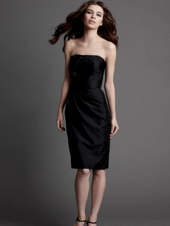 black strapless dress knee length 2016-2017 » B2B Fashion