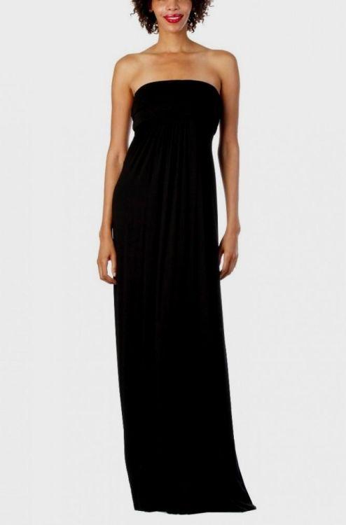 Black Strapless Maxi Dress - Dress Xy