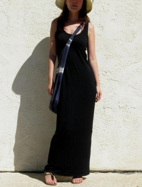 Black Tank Maxi Dress Outfit
