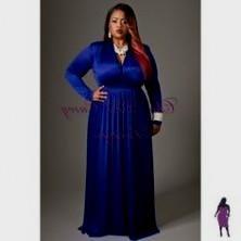 blue dresses with sleeves plus size 2016-2017 » B2B Fashion