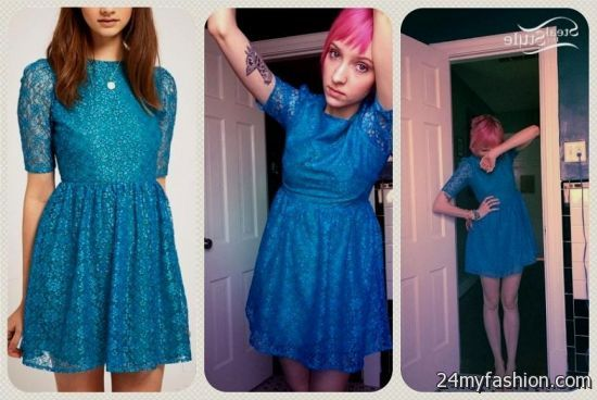You Can Share These Blue Lace Dress Forever 21 On Facebook Stumble Upon My E Linked In Google Plus Twitter And All Social Networking Sites