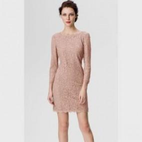 blush lace dress with sleeves 2016-2017 » B2B Fashion