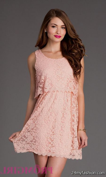 bbd75aeaf71 Our selection of mini dresses are the perfect way to express your style. You  can share these blush pink short prom dress on Facebook ...