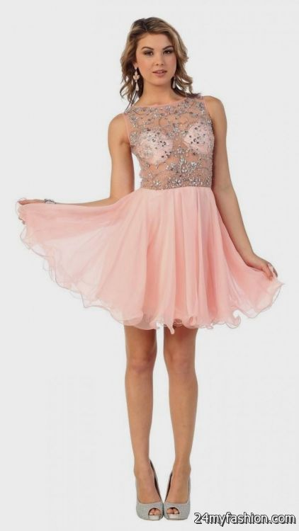 e9bf6b00c3d You can share these blush pink short prom dress on Facebook