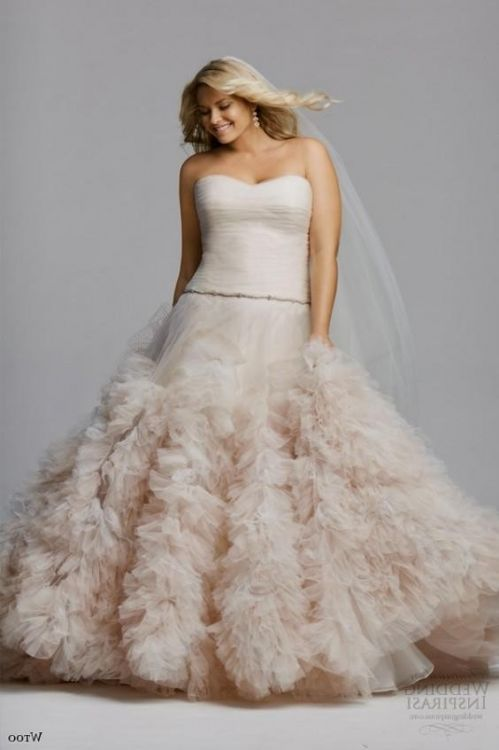 Blush Wedding Dresses Plus Size 2016 2017 B2b Fashion