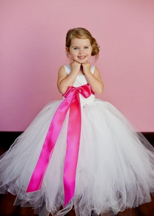 Bright pink flower girl dresses 2016 2017 b2b fashion mightylinksfo