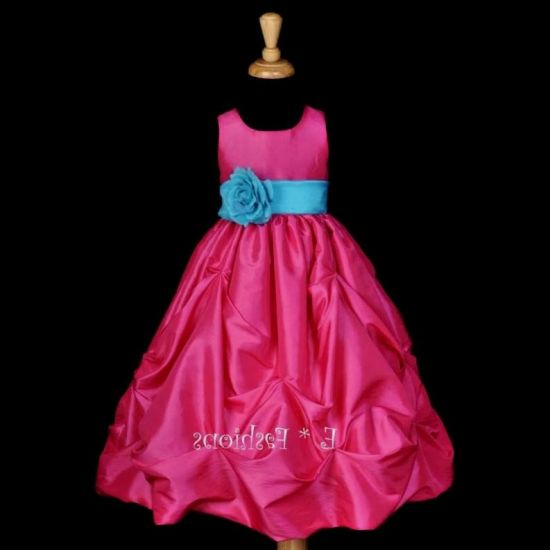 Bright pink flower girl dresses 2016 2017 b2b fashion you can share these bright pink flower girl dresses on facebook stumble upon my space linked in google plus twitter and on all social networking sites mightylinksfo