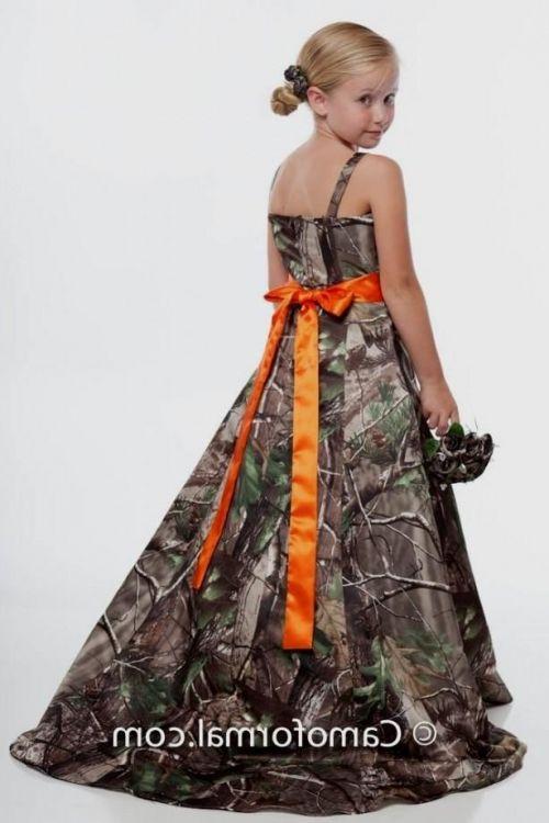 camo and orange flower girl dresses 2016-2017 » B2B Fashion