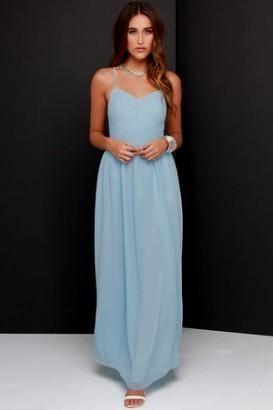 Casual Baby Blue Maxi Dress - Missy Dress
