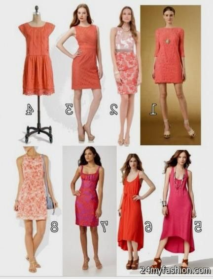 casual coral dress 2016-2017 » B2B Fashion