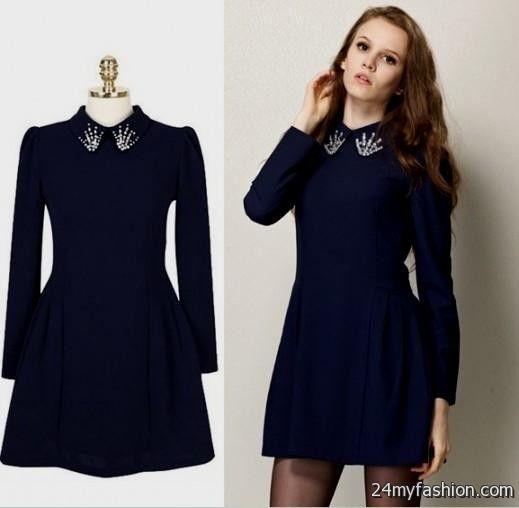 Dark Blue Casual Dresses