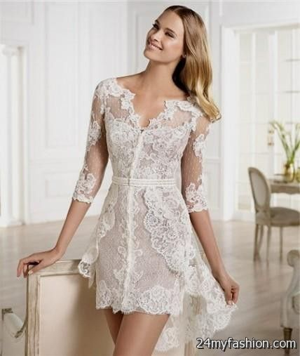 casual lace dress with sleeves 2016-2017 » B2B Fashion